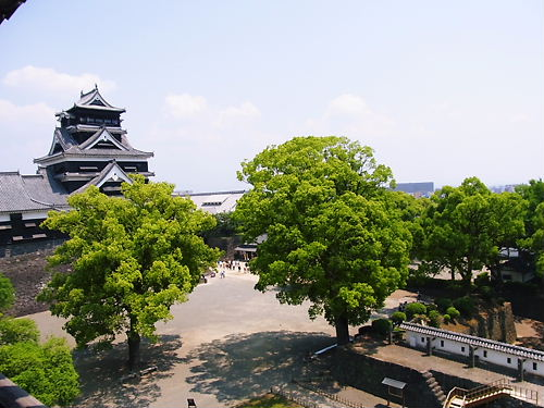 宇土櫓より (2)