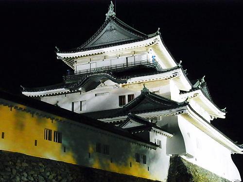 夜の和歌山城天守