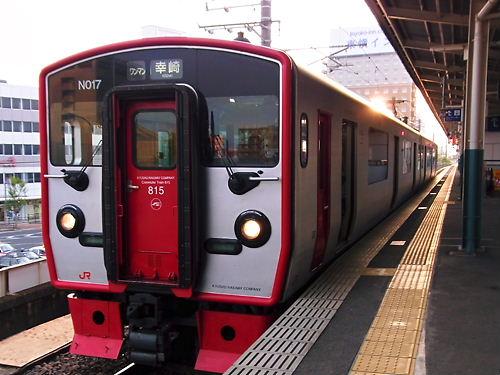 中津駅にて