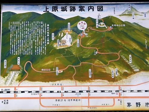 上原城案内図