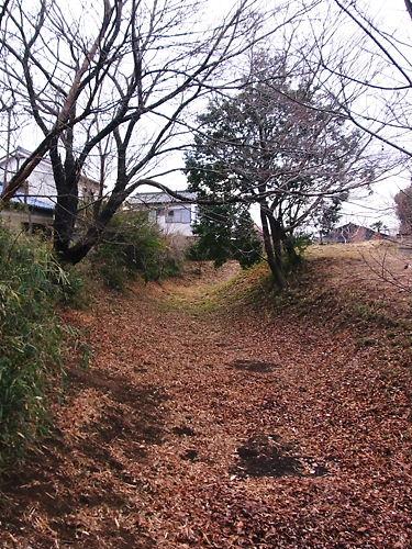 甘棠院前の堀