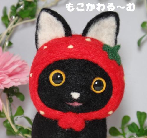 苺マト黒猫2