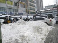 東大門近くの雪