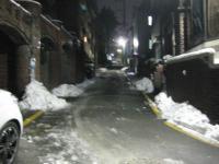 雪の大学路