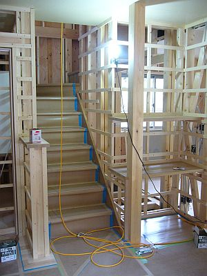 階段とOAスペース