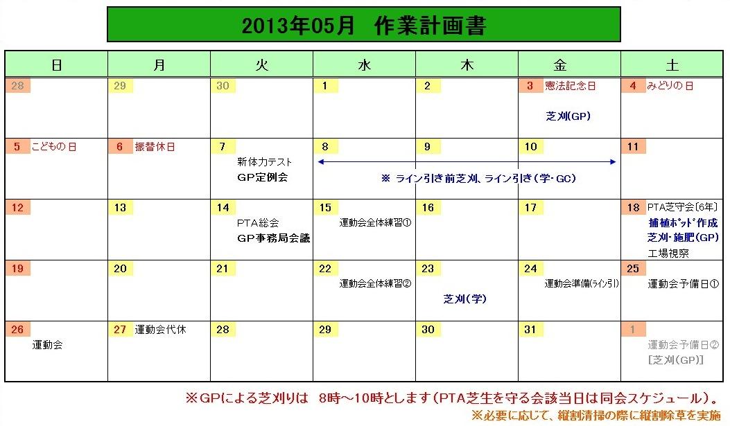 201305作業計画
