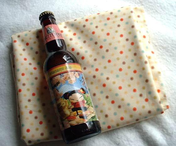 ビールと布