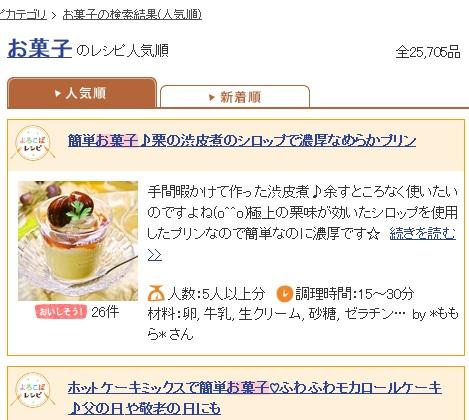 レシピブログお菓子