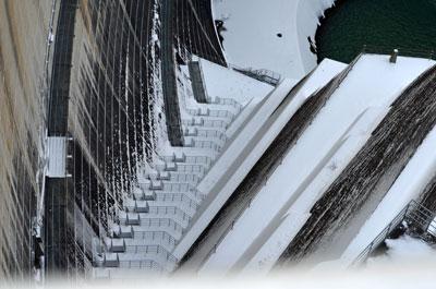 かわじダム階段
