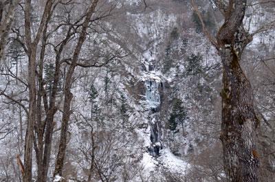 蛇王の滝凍る横