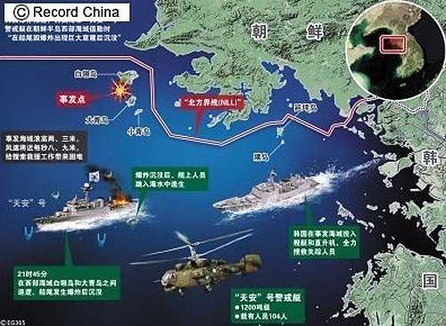 <韓国艦艇沈没>日本、中国、ロシアに調査結果を通達し協力を要請