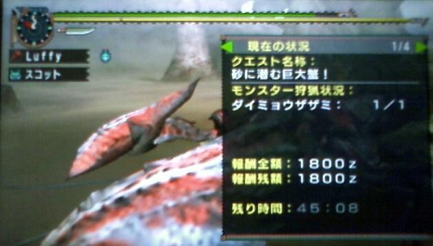 砂に潜む巨大蟹