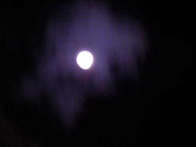雲と月(打ち上げ花火モード)