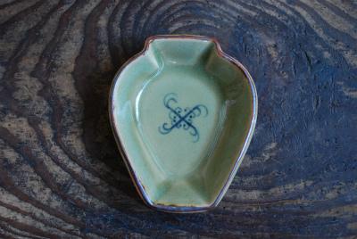 うぐいす釉壺小皿