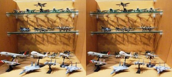 飛行機模型(交差法)