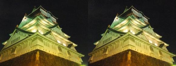 大阪城3Dマッピング スーパー イルミネーション⑤(平行法)