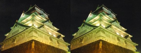 大阪城3Dマッピング スーパー イルミネーション⑤(交差法)