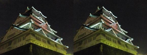 大阪城3Dマッピング スーパー イルミネーション④(交差法)
