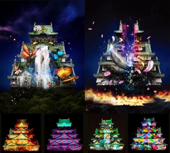 大阪城3Dマッピング スーパー イルミネーション