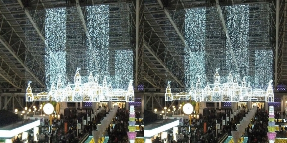 大阪ステーションシティ トワイライトファンタジー①(交差法)