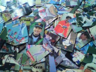 昔のプロ野球チップスのカードがこんなにも・・・