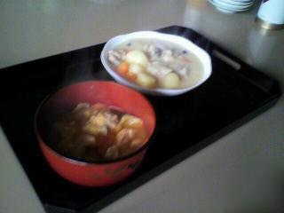 坦々鍋とシチュー