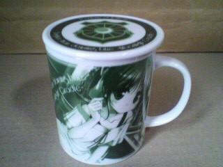 夜明け前より瑠璃色な 朝霧麻衣 フタ付きマグカップ