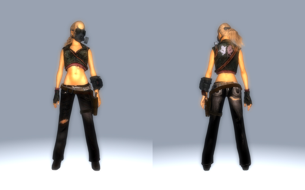 Fallout: New Vegas MOD - The Tough Girl Outfit for Type 3 - あげ ...