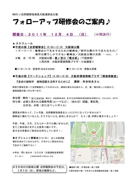 111204大阪城公園自然観察会
