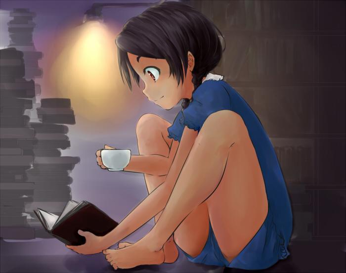 コーヒーと本1