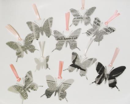 蝶切り紙栞