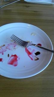 勢いよく食べてしまいました。