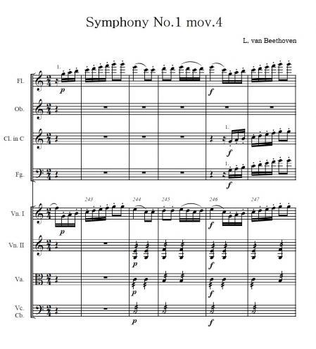 ベートーヴェン交響曲1番