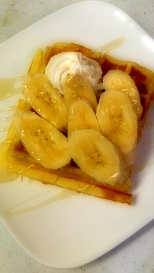 バナナのワッフル