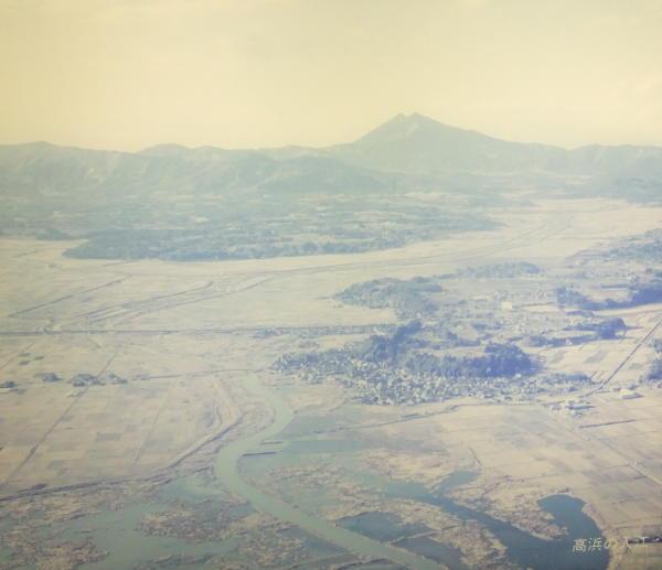 高浜から見た霞ヶ浦の航空写真