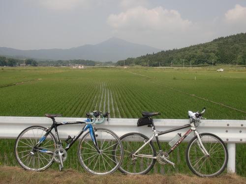 チャリと筑波山