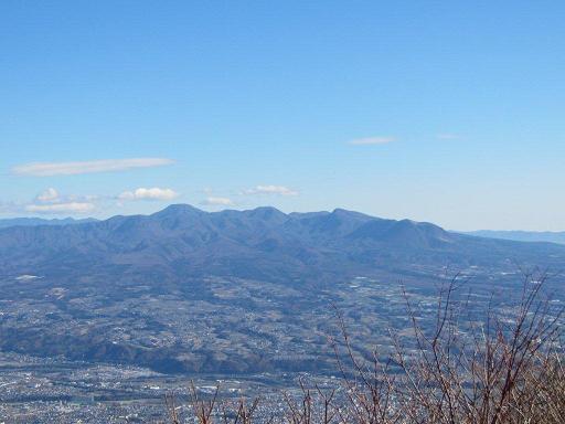 水沢山山頂からの赤城山