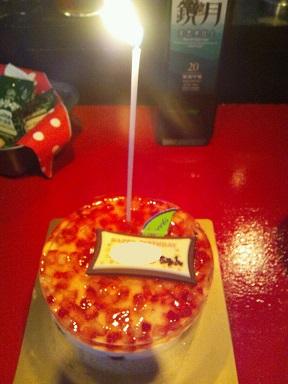 ケーキと焼酎