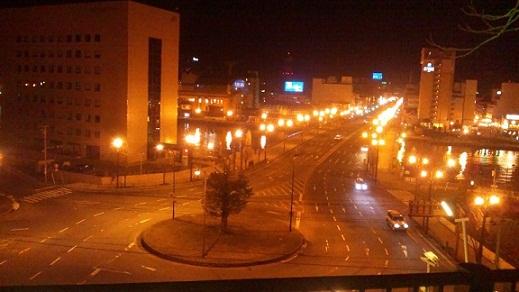 釧路の夜は静か。