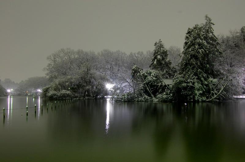 雪の上池3