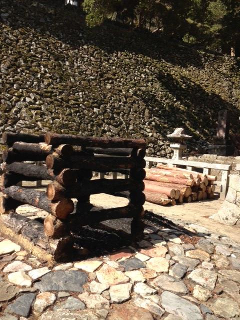 段木置き場