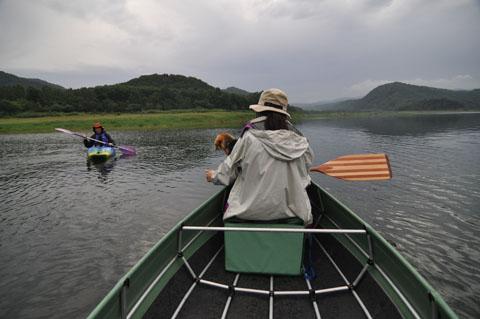3岩尾内湖カヌー