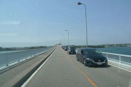 83能登島大橋渋滞