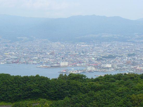 函館山からの函館市街地