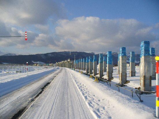 北海道新幹線の工事現場