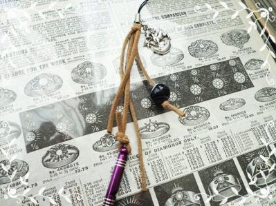 【オーダー】トンボ玉ネックレス&ストラップ120118 (3)