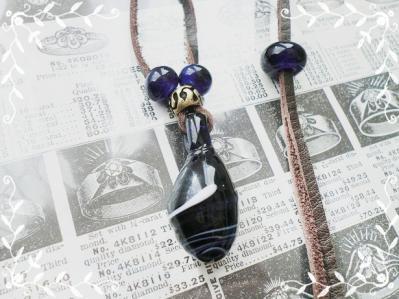 【オーダー】トンボ玉ネックレス&ストラップ120118 (2)