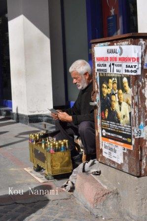 トルコの靴磨き屋さん