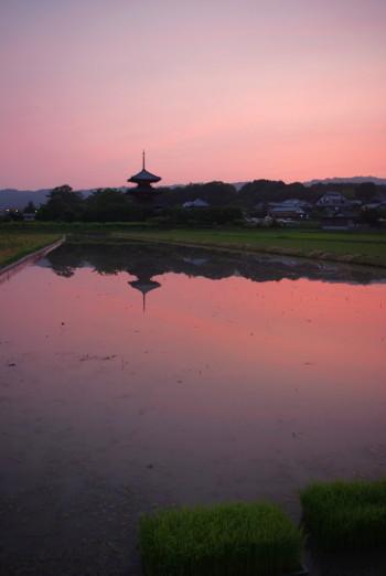 法起寺の夕焼け4_1