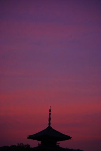 法起寺の夕焼け_1